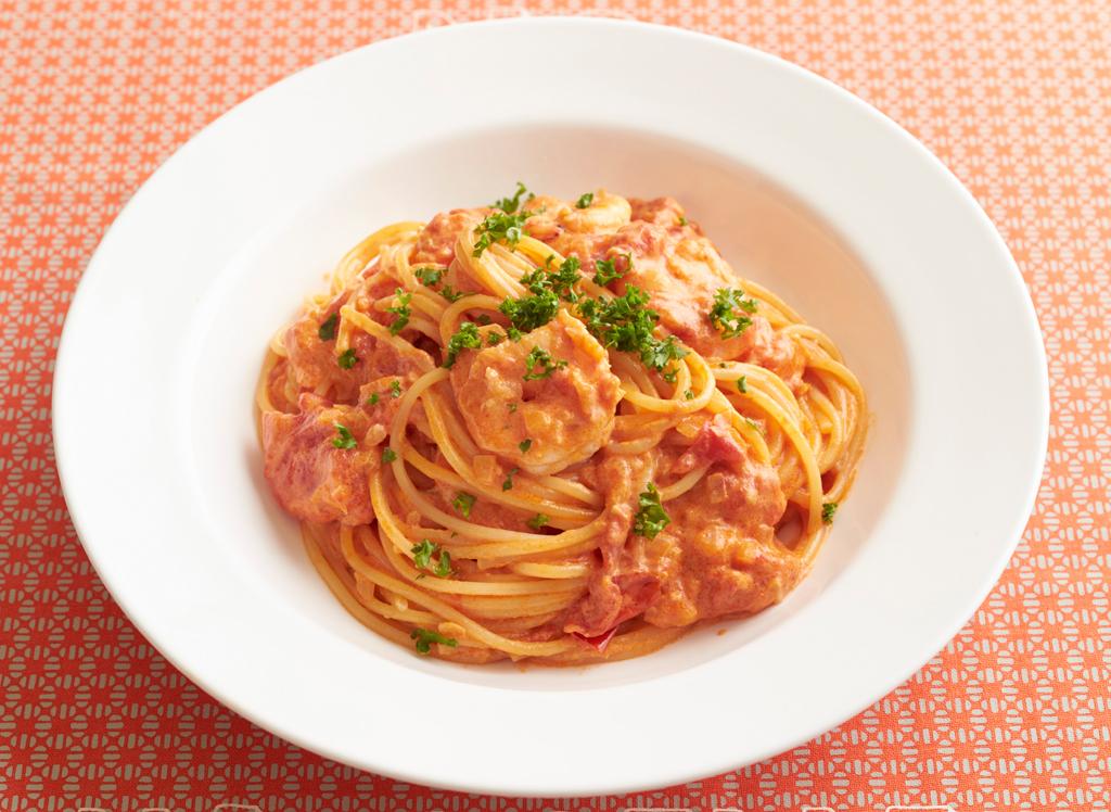 海老 の トマト クリーム パスタ